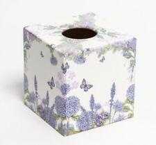 Wild Flower  Tissue Box Cover wooden handmade