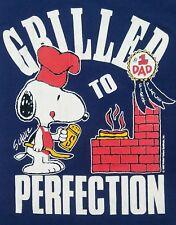 Vtg Snoopy Peanuts Characters #1 Dad Blue Graphic T-Shirt Men Sz L Single Stitch