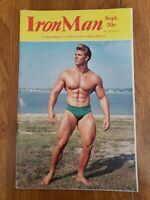 Sept. 1968 The Iron Man Bodybuilding Magazine Mr America James Haislop on Cover