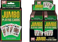 Jumbo Playing Cards Games Plastic Coated Poker Bridge Garden Games Party Outdoor