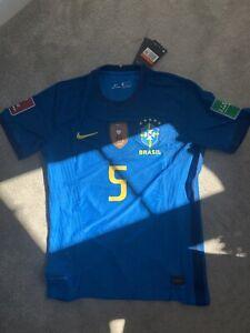 Brazil brasil Away Large Player Version Nike Casemiro 5 Jersey Shirt WC Patches