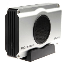 """USB 3.0 HDD Enclosure Case for 3.5"""" SATA Hard Disk Drive with Cooling Fan"""