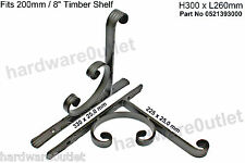Traditional Wrought Iron Shelf Brackets Pair Beautiful in any home & very strong