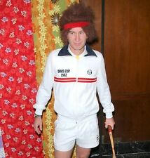 John Mcenroe Red Headband Tennis Fancy Dress Retro Vintage