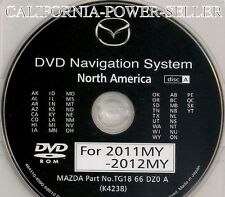 2009 2010 2011 Mazda RX8 Navigation DVD WEST Coast U.S Map Release 2012 Update