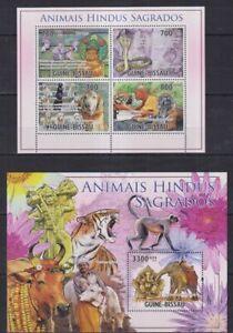 F902. Guinea-Bissau - MNH - Animal Kingdom - Sacred Animals of India