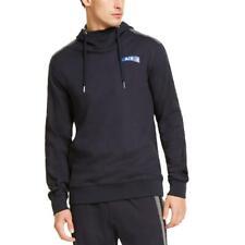 Armani Exchange Mens Navy Colorblock Cozy Comfort Hoodie Loungewear S BHFO 4763