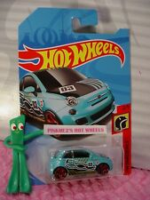 FIAT 500✰turquoise blue;red pr5✰2/5 HW DAREDEVILS✰2018 i Hot Wheels WW case J