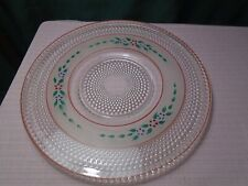 """Le Smith Hobnail Dewdrop Platter Cake Plate 12"""" . Rare"""