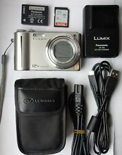 Panasonic Lumix DMC-TZ6 EG-S 10.1MP Digitalkamera-Silber + 8 GB Speicherkarte
