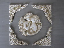 FIVE LITTLE SHABBY CHIC DECORATIVE VINTAGE CORNERS/ANGLE MOULDINGS/PROJECTSET