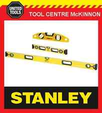 STANLEY FATMAX BOX 23cm, 2ft / 600mm & 4ft / 1200mm SPIRIT LEVEL TRIPLE PACK