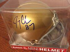 Jimmy Clausen Signed Notre Dame Mini Helmet Autographed