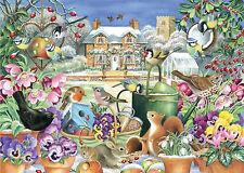 NUOVO! Falcon De Luxe Winter Garden 1000 PEZZI Fauna Selvatica Puzzle 11130