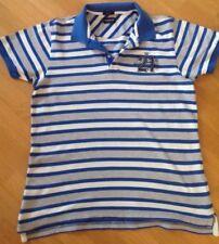 Mc GREGOR mens polo shirt L blue/grey/cream stripes slim fit