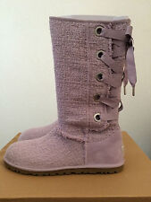UGG Womens Sz 5 (Youth 3 ) Heirloom Lace Up Tall Boots Purple Iris 1000693 IRS