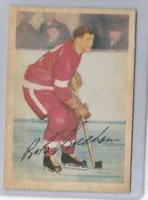 1953-54 Parkhurst Hockey Bob Goldham Card # 49 Excellent Condition