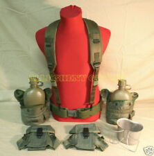 US Army Military Lot LBE Large PISTOL BELT Butterfly CANTEEN CUP AMMO POUCH VG