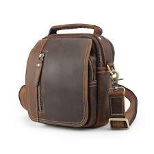 Vintage Men Real Leather Shoulder Bag Travel Fanny Pack Waist Belt Messenger Bag