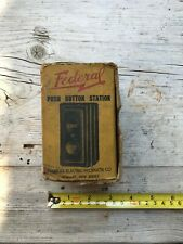 Federal Push Button Control Station Switch Open/Close In Original Box