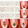 Christmas 12 Sheet 3D Nail Art Snowflakes & Cute Snowmen Nail Decals Stickers