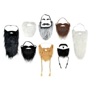 Self-Adhesive or Elasticated Fancy Dress Viking Fake Beards (Various Styles)