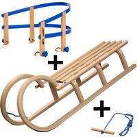 Hörnerrodel Schlitten Holz Colint 110 cm Hörnerschlitten Holzschlitten Lehne NEU