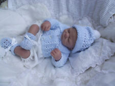 BABY knitting pattern  boys  coat mitts booties  and hat  4ply 14 /22 inch