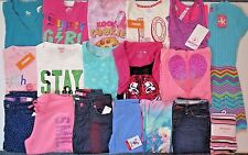 NWT Girls Fall Clothes Lot Size 7 7/8 Outfits Tops Hoodie Jeans Leggings Dress