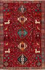 Unique Tribal Geometric Hand-Knotted Animal Design Abadeh Nafar Area Rug 6x9