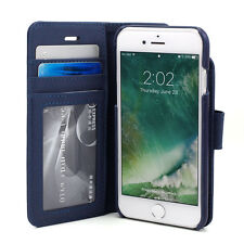 """Prodigee Wallegee Blue iPhone 7 4.7"""" Card 2 in 1 Wallet Leather Flip Case Cover"""