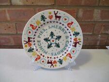 "Emma Bridgewater Christmas Brights - Mince Pies 8.5"" Plate - New"