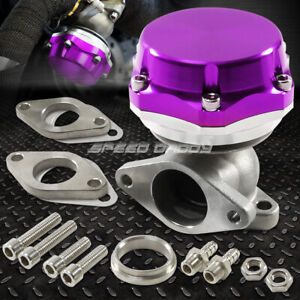 35MM/38MM TURBO CHARGER MANIFOLD PURPLE 8 PSI COMPACT 2-BOLT EXTERNAL WASTEGATE