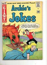Archie Giant Series #17 Archie's Jokes! KATY KEENE APP! Fine 6.0 NICE! 1962
