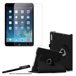 Housse Etui Noir pour Apple iPad Air / Air 2 + Vitre de protection