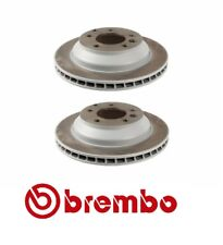 For Audi Q7 Porsche Cayenne VW Touareg Set of 2 Rear Brake Disc Brembo 09A05611