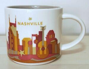 Starbucks You Are Here Nashville Ceramic City Coffee Mug