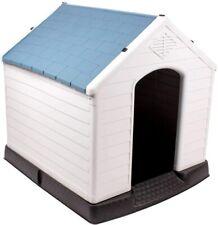 Waterproof Dog Kennel Air Vents Elevated Floor Indoor Outdoor Dog House Medium