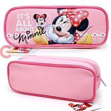 Disney Minnie Mouse Pencil Case Zippered Cosmetic Bag Baby Pink It's All About