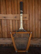 Spaulding Vintage Pancho Gonzales Tennis Raquet Wooden Racquet Press Collect