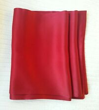 New! Mens Red 100% Pure Silk Scarves! Tailor made in London By Red