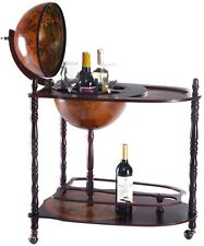 Vintage Globe Wine Stand Bottle Rack with Extra Shelf Home Bar Office Furniture