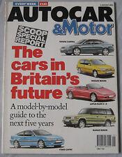 Autocar magazine 2/1/1991 featuring Lotus Elan SE, Mazda MX-5 Turbo, Rover, Ford