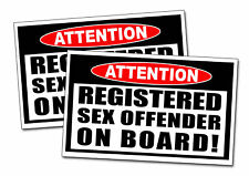 Funny Registered Sex Offender Warning Sticker Prank Gag