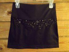 Free People Sleek Black Stretch Mini Skirt Sequins Size 4