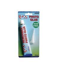 PHOTO GLUE 50ml TUBE ACID FREE REPOSITIONABLE CRAFT SCRAPBOOKING ADHESIVE S57236
