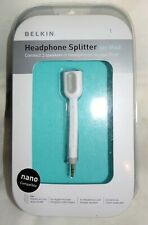 Belkin Headphone and Speaker Jack  3.5mm Splitter,New from 2005 ipod nano cd/MP3