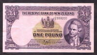 NEW ZEALAND P-159a. 1 Pound (1940-55) - Hanna.  Prefix G/8.. aEF-EF
