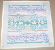 """Ap Flowing Pastels - Sunroom Pillow Handpainted Needlepoint Canvas 14x14"""""""
