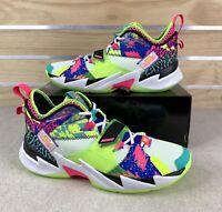 Jordan CD3003-102 Why Not Zer0.3 LA Born Neon Multicolor Sneakers Men's Size 14
